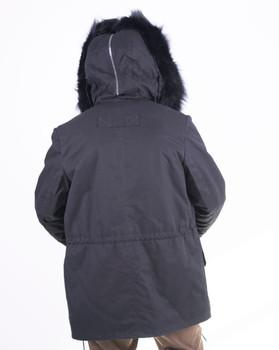 Fox Trim Lined Parka with split Hood