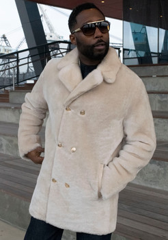 Cream Mouton Pea Coat