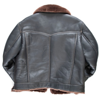 Brown Denim Style Sheepskin Jacket
