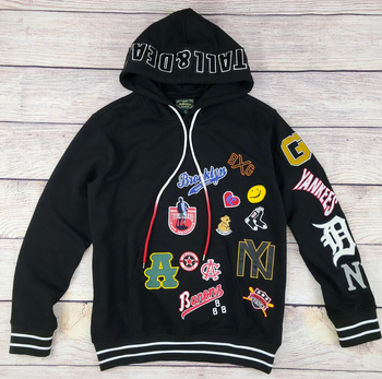 Stall and Dean Negro League Colored Patch Hoodie