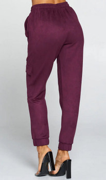 Suede Berry Jogger