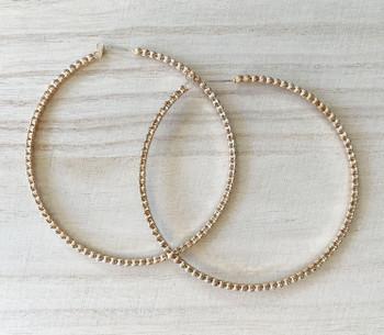 Studded Gold Hoop Earrings