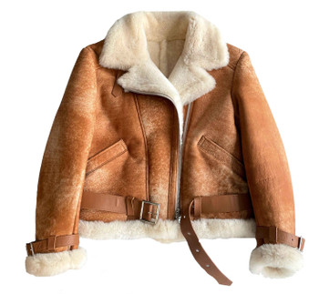 Crispy Sheepskin B3 Pilot Jacket for women