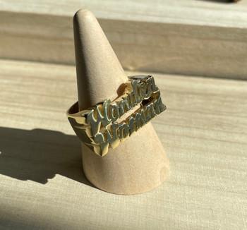 Brass Wonder Woman Ring