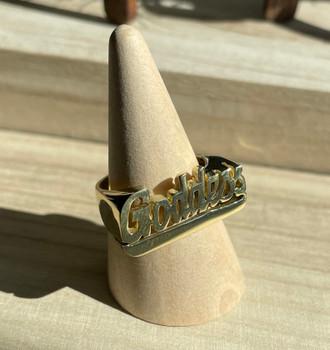 Brass Goddess Ring