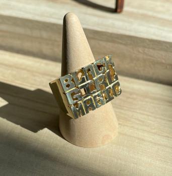 Brass Black Girl Magic Ring