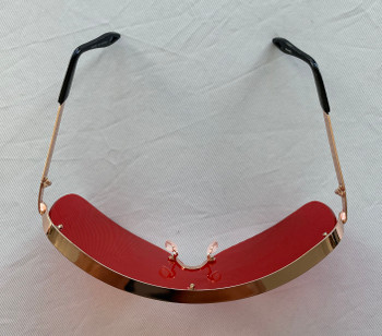 Oversized Red Colored Sunglasses