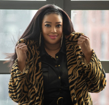 Zebra Print Faux Fur Jacket