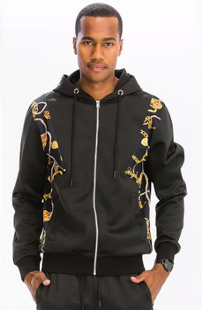 Gold Jewelry Track Jacket