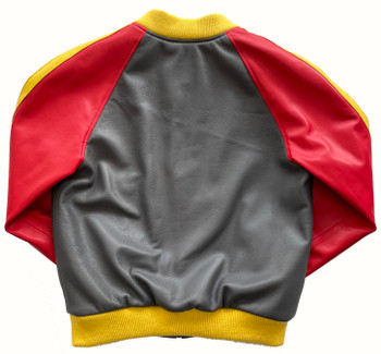 Red and Yellow Butter Soft Baseball Jacket