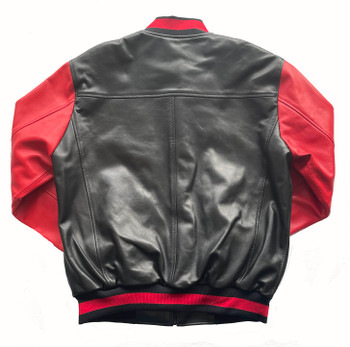 Red and Black Striped Butter Soft Baseball Jacket