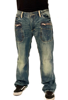 Cult of Individuality Double Zipper Mens Jeans