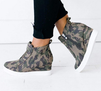 Ladies Ccocci Wedge Camo Sneakers