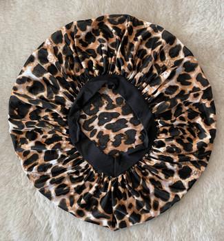 Brown Leopard Patterned Sleep cap