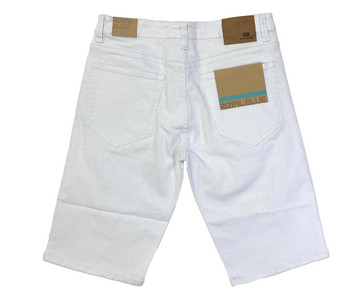 Mens White Relaxed Fit Shorts