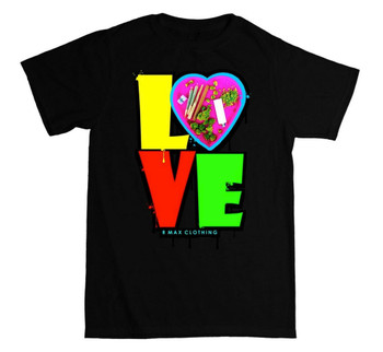 420 LOVE R Max Black Tee Shirt