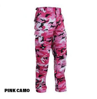 Pink Camo Cargo Pocket BDU Rothco Pants