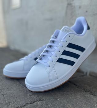 Adidas Grand Court Wavy Stripe Gum Sole Sneakers