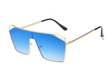 Flat Top Ocean Blue Sunglasses