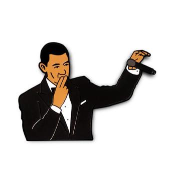 President Obama Mic Drop Meme Enamel Pin
