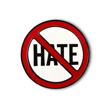 Stop Hate Enamel Pin