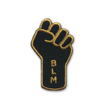 Black Lives Matter Raised Fist on Iron Patch Pin