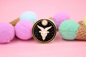 Astrology Capricorn Enamel Pin
