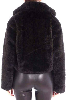 Cropped Teddy Faux Fur Jacket