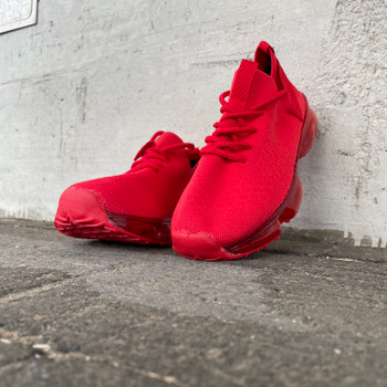 Red Mesh Breathable Casual Sneaker