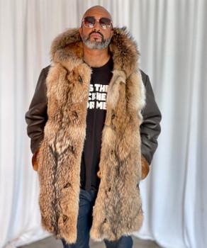 Fur Front Sheepskin Jacket for men
