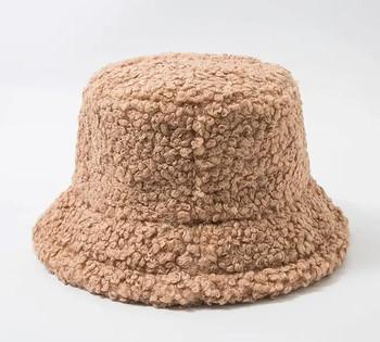 Lamb Wool Khaki Bucket Fishermans Hat winter hat