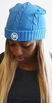 Blue Mezzan Knit Winter Cap
