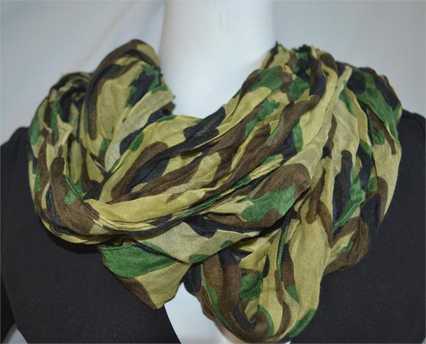 Green Camouflage Lightweight Infinity Scarf