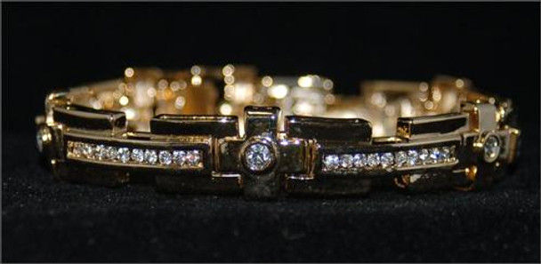 Gold Plus Sign Bracelet