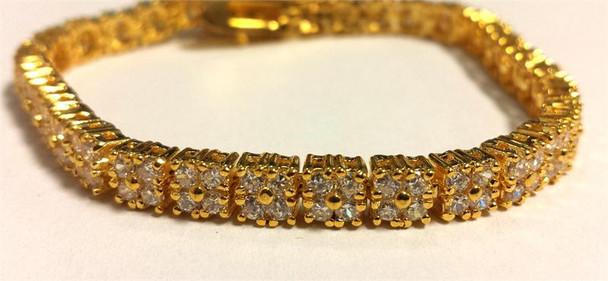 Squared Gold Tennis Bracelet