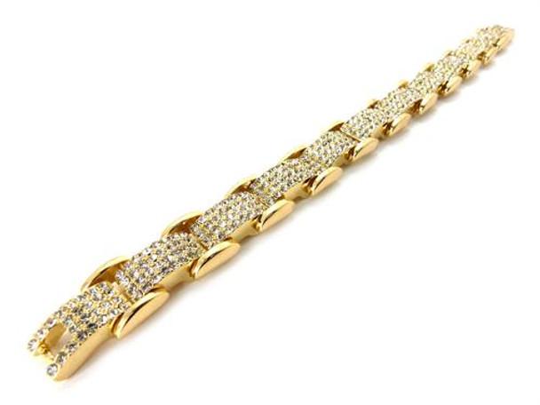 Gold Icey Train Bracelet