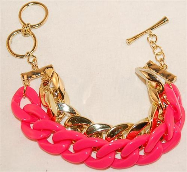 Pink and Gold Rope Bracelet
