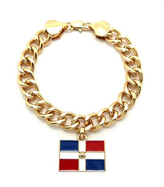 Gold Dominican Republic Bracelet