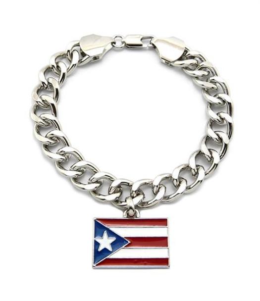 Silver Puerto Rico Bracelet