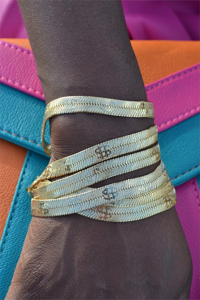 Herringbone Dollar Sign Bracelet