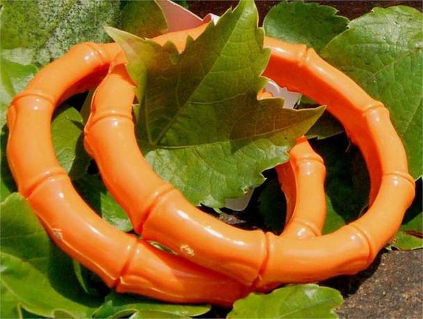 Neon Orange Plastic Bamboo Bangles