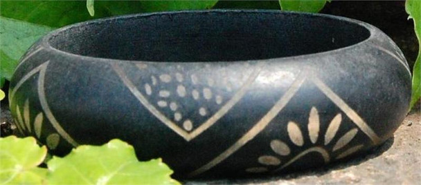 Black Wooden Bangle