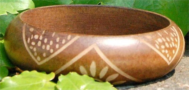 Light Brown Wooden Bangle