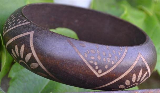 Dark Brown Wooden Bangle