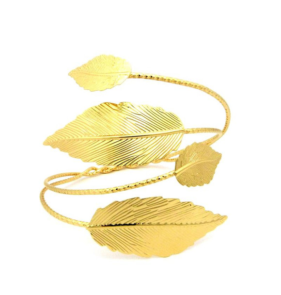Gold Leaf Arm Cuff
