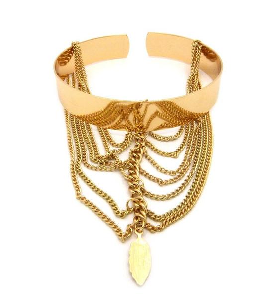 Gold Hanging Arm Cuff
