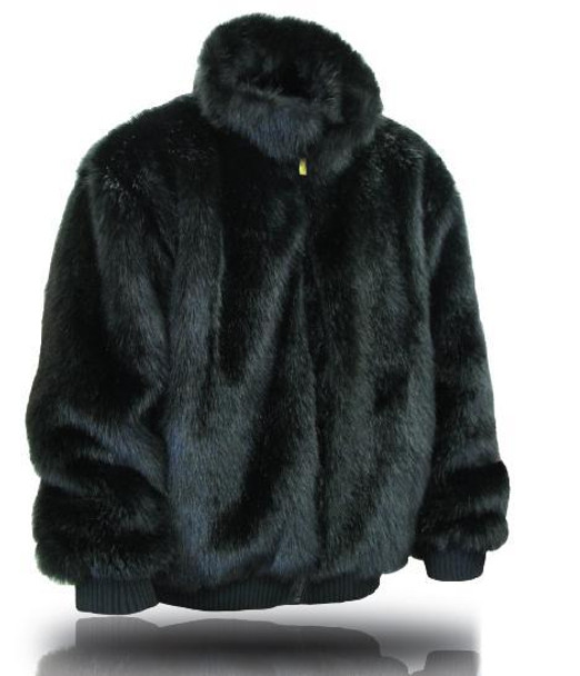 Ablanche Mens Mink Faux Fur Coat