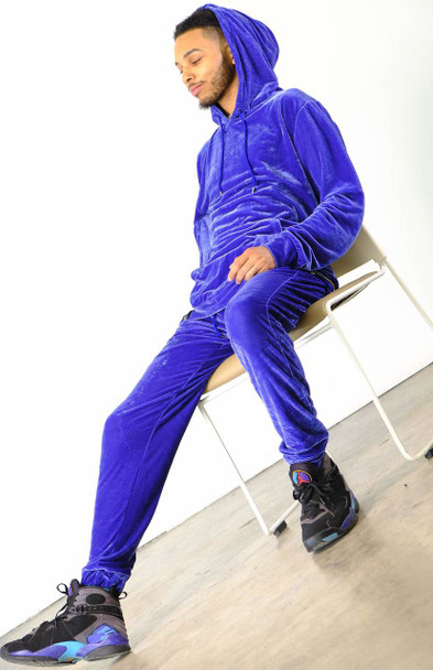 Royal Blue Velour Jogging Set