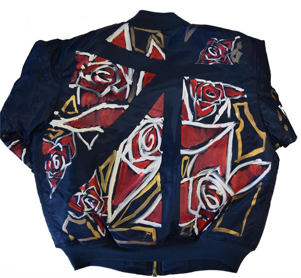 Need The Rose Gold Flag Flight Jacket