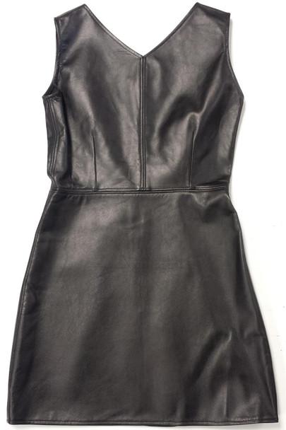 Pink Sheep Black Battlefield Leather Dress
